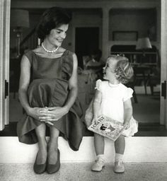 1960- JACKIE AND CAROLINE IN WASHINGTON. SHE WAS EXPECTING HER SECOND CHILD IN DECEMBER