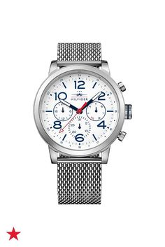 A casual mesh watch is the perfect finishing touch for your weekend look. Shop this Tommy Hilfiger watch and more at macys.com!