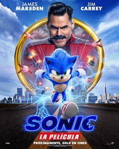 High resolution official theatrical movie poster ( of for Sonic the Hedgehog Image dimensions: 2026 x Starring Ben Schwartz, James Marsden, Jim Carrey, Tika Sumpter 2020 Movies, Hd Movies, Movies To Watch, Movies Online, Movie Tv, Movies Free, Grease Movie, Fire Movie, Movie Plot