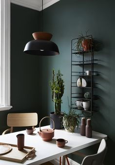 Sisällä Apartment · Sisällä Interior Design Photo by Tess Kelly Apartment Interior Design, Best Interior Design, Interior Paint, Apartment Ideas, Green Apartment, Apartment Walls, Color Interior, Brown Interior, Studio Interior