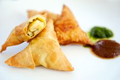 delicate potato samosas - Not really Asian but Indian food from India