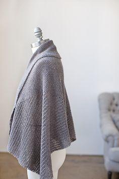Brooklyn Tweed: Ferrous Wrap - Geometric Garter and Mesh Lace  by Grace Anna Farrow