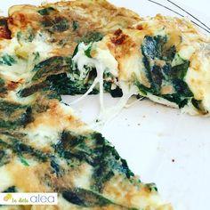 Tortilla de espinacas y mozzarella (cenas