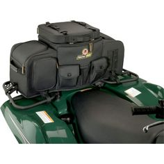 """MOOSE UTILITY DIVISION / NRA LEGACY FRONT/REAR RACK BAG.  This premium cargo system is sure to create its own legacy in the world of ATV luggage. Riveted straps and carrying handles add true functionality to your ATV.  """"VISIT SITE"""" FOR ALL INFO."""