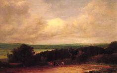 Landscape Ploughing Scene In Suffolk - John Constable