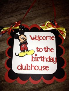 MIckey Mouse Party Set primary color by PurpleZebraPaperCo