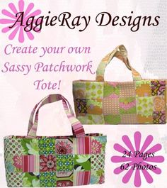 INSTANT DOWNLOAD PDF  Sewing Pattern Sassy Patchwork by AggieRay, $3.00