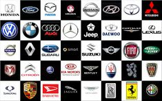 Car Logos Car Logos With Names, All Car Logos, Car Brands Logos, Used Cars Online, Buy Used Cars, Mazda, Maserati, Ferrari, Lamborghini Cars