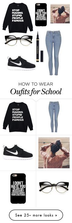 """""""Comfy school day"""" by kels-bels-and-life on Polyvore featuring Topshop and NIKE"""