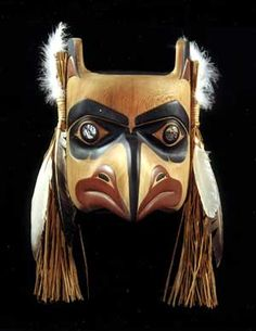 Haida Eagle Mask (native american)  Alaska is kind of far from my home but lots of similarities between the two. Art wise