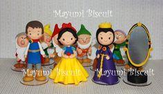 Mayumi Biscuit: Tema Branca de Neve, príncipe, rainha má, e 7 anões