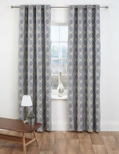 Buy the Diamond Jacquard Eyelet Curtains from Marks and Spencer's range. Room, Home Living Room, Interior, Interior Inspiration, Curtains Ready Made, House Styles, Home Decor, Curtains, House Interior