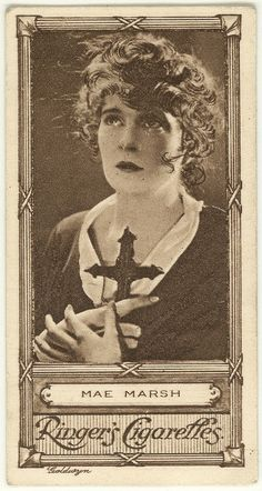 Mae Marsh-♥ Cinema Stars Cigarette Card