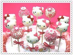 Hello Kitty Cake Pops by myangelpops on Etsy, $39.99 sdjules