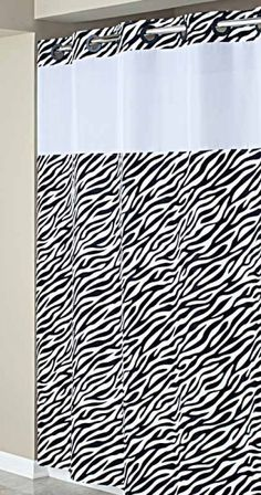 Hookless Zebra Print Mystery Shower Curtain