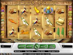 Hidden mysteries will present you! http://www.slot-machines-paradise.com/games/secret-horus-slot-game #slotmachinesparadise #secrethorus #games