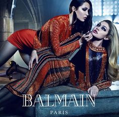 Balmain F/W 2015 Ad Campaign photographed by Mario Sorrenti
