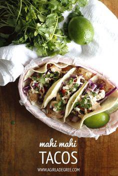 Mahi Mahi Tacos with Chipotle Lime Crema