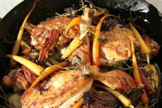 Recipe: one-pot roast chicken from Ian Webber at The Five Bells, Clyst Hydon, nr Exeter, Devon. Exeter Devon, One Pot, Roast Chicken, Pot Roast, Paella, Crockpot, Eat, Ethnic Recipes, Food