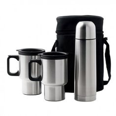 The Car Mug/Vacuum Flask Set is made from pure stainless steel, an essential item while travelling to work! Comes with carry case, flask, and two mugs with lids! Call 1800 996 984 now! Corrugated Plastic Signs, Stainless Steel Thermos, Vacuum Flask, Branded Gifts, Wines, Liquor, Tea Cups, Coffee Mugs, Pure Products