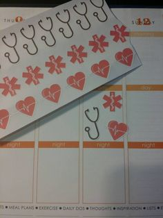 Nurse/Doctor Stickers for your Erin Condren by PlanningMadeEasy Happy 365 Planner, Life Planner, Planner Ideas, Printable Planner, Planner Stickers, Printables, Nursing Planner, Nurse Grad Parties, Day Planners