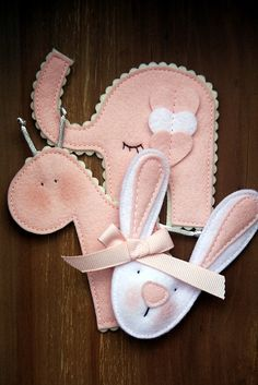 It's a girl! Brooch Set by made by agah, via Flickr