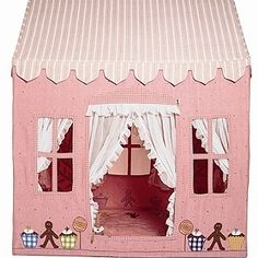 Cute homemade playhouse you could even do a firehouse or boy colors for little boys so easy