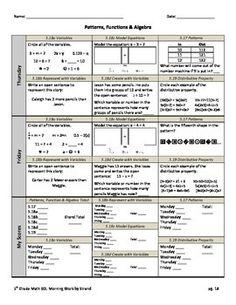 math daily review worksheet bundle 5th grade sol s 30 ws keys rh pinterest com Printable Math Study Guides 3rd Grade Math Lessons