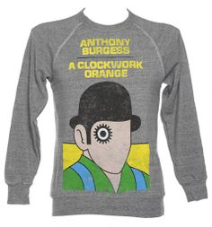 Unisex Grey Marl Anthony Burgess A Clockwork Orange Novel Sweatshirt