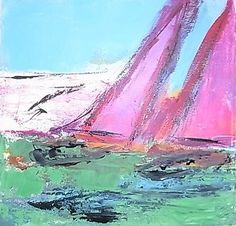 Rosy-Green-Sails-Laura-Mars-Whitstable-original-contemporary-painting