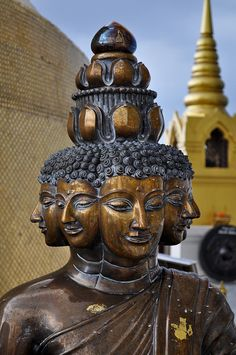 Lord Buddha, Golden Mount, Bangkok, Thailand   by Julia Laufeyson~~~