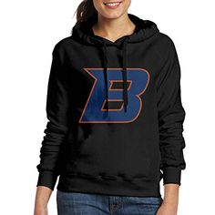 Bekey Womens Boise State Athletic B Hoodie Jacket XL Black *** Details can be found by clicking on the image.