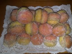 My absolute favorite Romanian dessert-Piersici! Romanian Desserts, Romanian Food, Romanian Recipes, Sweets, Cookies, Baking, Cake, Ethnic Recipes, Foods