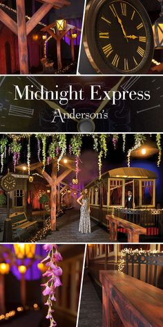 """Midnight Express Complete Prom Theme - It doesn't take a Herculean effort to pull together a mysterious train theme for your Prom or Homecoming. Set the scene for your train themed Prom with our """"Midnight Express Complete Theme."""" Filled with mysterious elements like a real ticking clock, dimly light depot, and solemn, yet luxurious train, this theme of decorative kits has all the clues you need to solve any Prom mystery."""