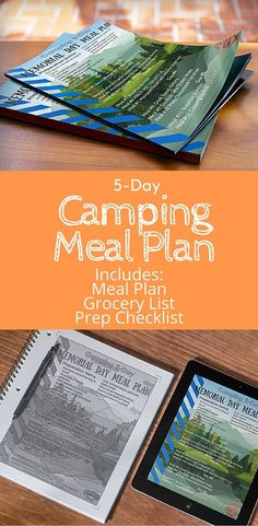 Save time, stress, and money: use this free printable 5-day camping meal plan from Saving Money Camping http://www.savingmoneycamping.com/memorial-day-camping-meal-plan-5-days/