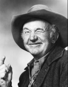 Walter Brennan.  A fantastic character actor in movies and on television.  He could even play a good bad guy.