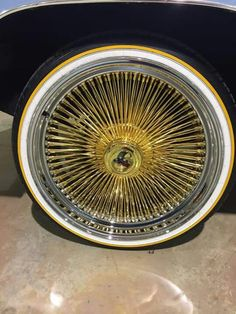 24kgold triple gold dayton wire rims | Things I like ...