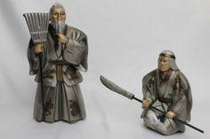 vintage Japanese antique ornament statue old couple bronze in Antiques, Asian Antiques, Japan, Statues | eBay