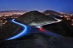 Roads Bathed in Lights : Traffic Trails Photography