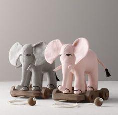 Chambray Elephant Pull Toy