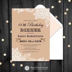 Retro invitation, invitations adults,adult birthday invitation template, birthday card, birthday invitation printable, birthday card by AmeliyInvite on Etsy https://www.etsy.com/listing/244798091/retro-invitation-invitations-adultsadult