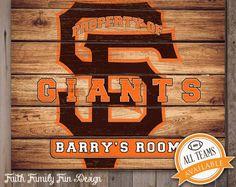 MLB San Francisco Giants Team Sign Printable. Personalized! Man Cave. Teen Room. Office Art. Nursery Decor. baseball Gift. Boys Room. Champs