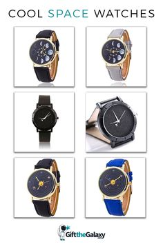 Affordable Space Watches found on GiftTheGalaxy.com | Sparkling Stars Nighttime Star All Black Everything Blackout Watch Moon Phases Watch Timepiece Leather Strap Solar System Orbiting Time Clock Multi-Colored Many Color Options Red Blue Yellow Watch Cheap Affordable Cool Space Gifts Moon Lovers Space Traveler >> GiftTheGalaxy.com #GiftTheGalaxy @GiftTheGalaxy Space Jewelry, Sparkling Stars, Time Clock, Moon Lovers, Space And Astronomy, All Black Everything, Moon Phases, Solar System, Casio Watch