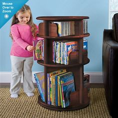 I love this spinning book carousel. A handy hubby could certainly make this. $179.95!