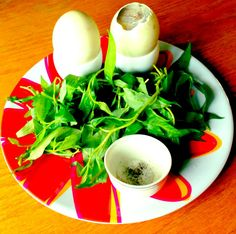 Hot Vit Lon - duck eggs with herbs and salt and pepper