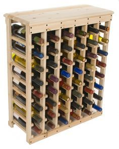 Homemade Wine Rack Cedar Stained Spray Laquer My