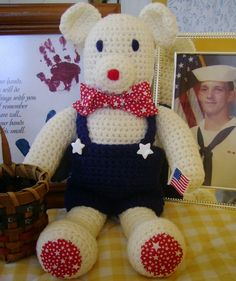 My Libearty Bear Blogged By Karin! CrochetByKarin: 4th of July Shout Out 4