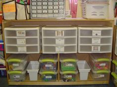 1st Grade Math Tubs with link to printables...but mostly I pinned this because this woman's organization is to die for. Maybe by the time I'm 50 my classroom will look like this!