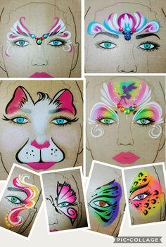 Speedy facepaint designs