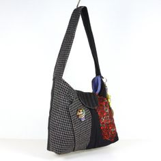 Womens Recycled Bag Multi Colored Bag Casual Bag by MisqueManuf, $60.00